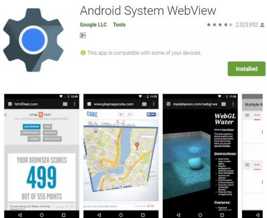android system webview play store