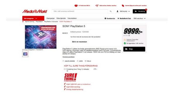 ps5 pre order mediamarkt sweden