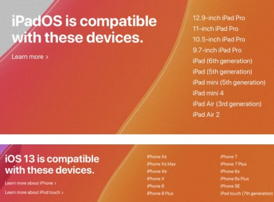 ios 13 gm compatible devices