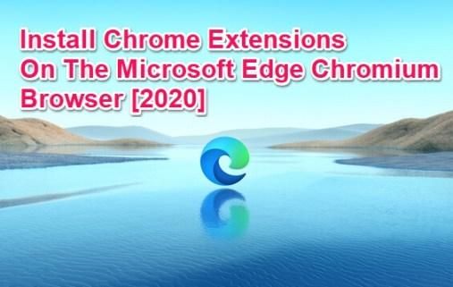 chrome extensions for edge chromium