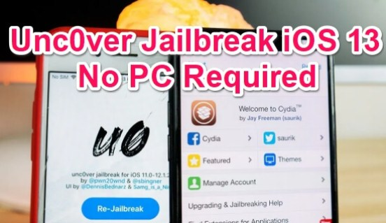 uncover jailbreak for ios 13 without pc