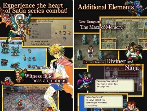 romancing saga apk screenshots