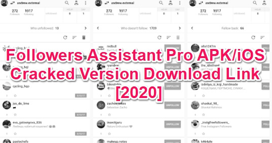 followers assistant pro mod apk