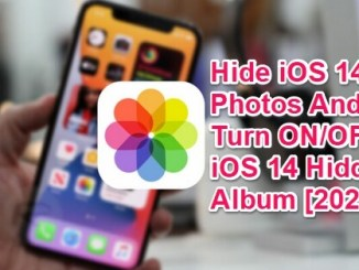 hide ios 14 photos and hidden album