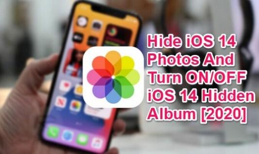 hide ios 14 photos and hidden album