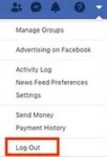 facebook logout desktop browser