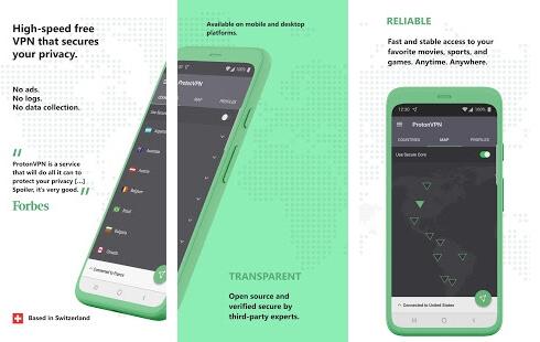 proton vpn apk screenshots