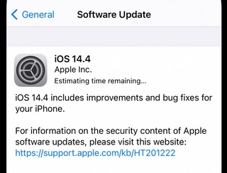 ios 14.4 release notes