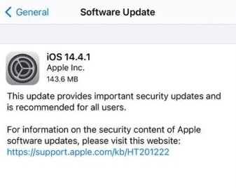 ios 14.4.1 release notes