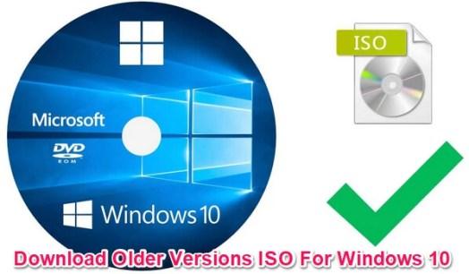 download older versions of windows 10