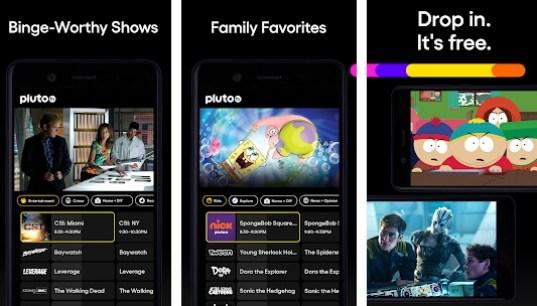 pluto tv apk screenshot