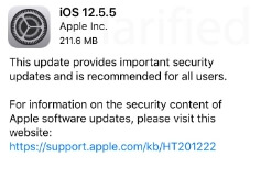 ios 12.5.5 release notes