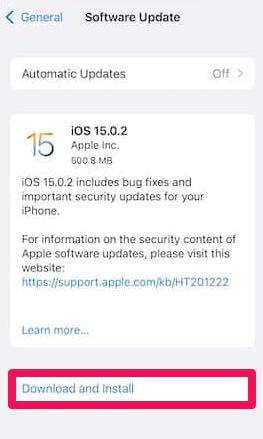 ios 15.0.2 ota