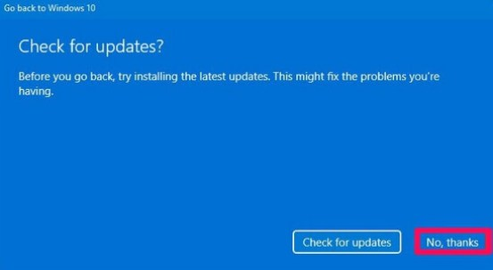 windows 11 check for updates