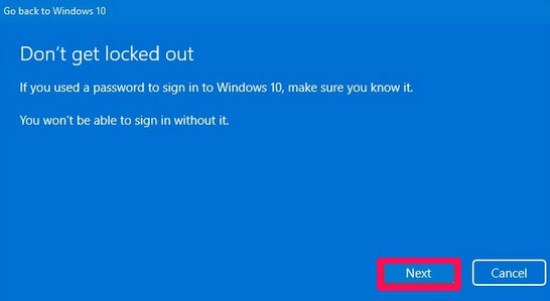 windows don't get locked out