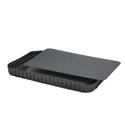 moule a tarte rectangulaire micro perfore 31 5 x 21 5 cm