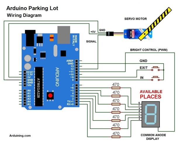 Arduino Parking Lot ( Filled ) – Arduining