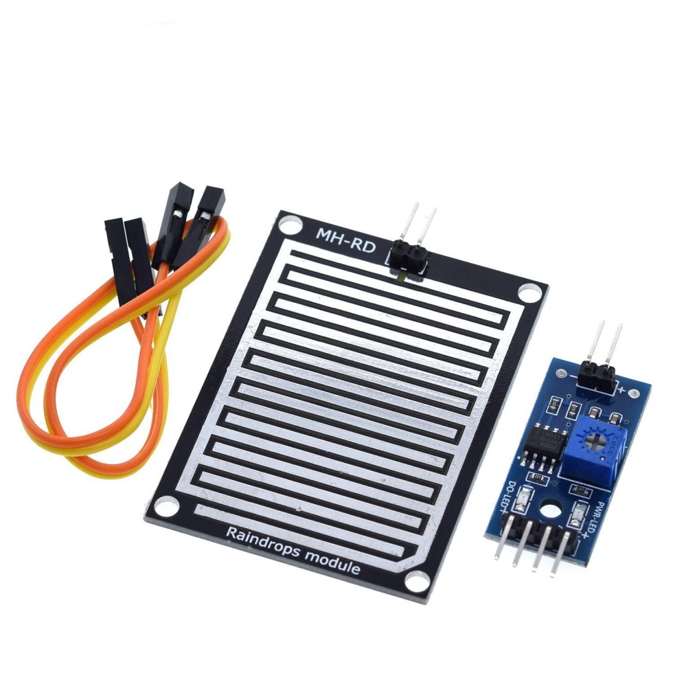 Snow/Raindrops Detection Sensor Module Rain Weather Module Humidity For Arduino