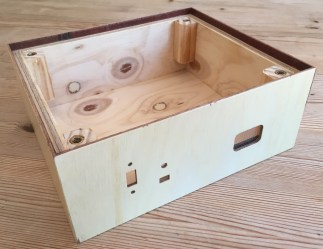 Finished box - front view