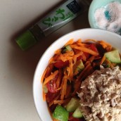 wasabi and mayo tuna salad