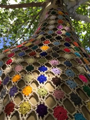 Grandma's afghan has a new home-yarn bombed