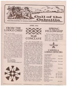 April 1982 Call of the Cahuilla