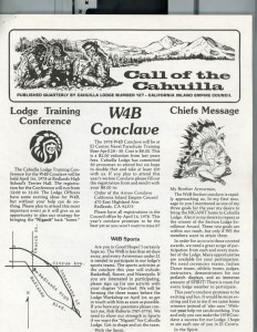 March, 1978, Call of the Cahuilla