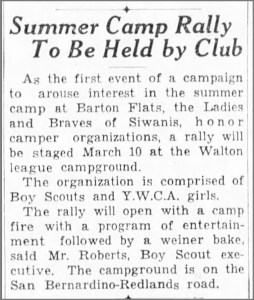 Ladies of Siwanis, March 1 1934, The San Bernardino County Sun