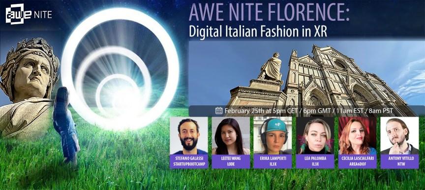 AWE Nite Florence: Digital Italian Fashion in XR