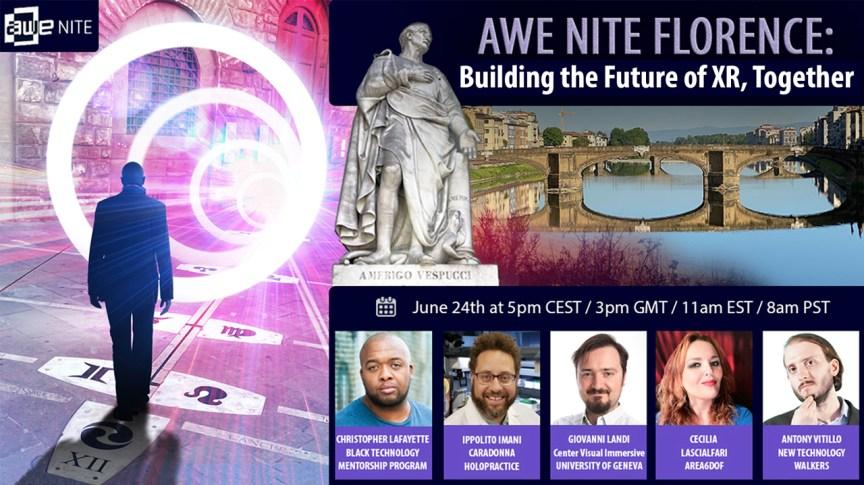 """AWE Nite Firenze presenta """"Costruire Insieme il Futuro della Realtà Estesa"""""""