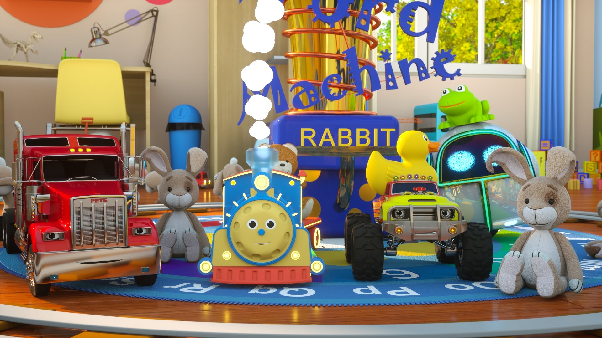 Learn to read with Max the Glow Train and his team