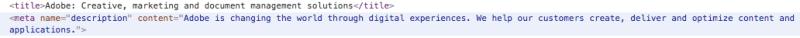 Adobe Meta Tags