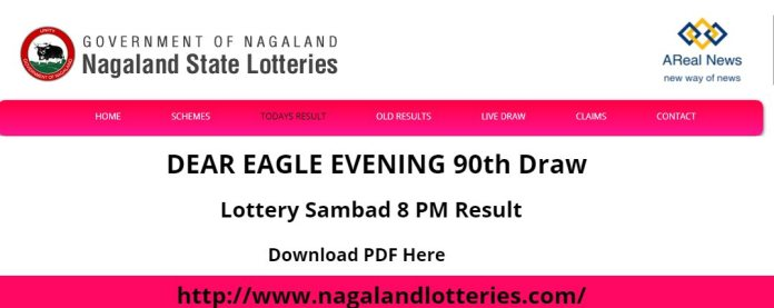 Nagaland State Lottery Result DEAR EAGLE EVENING