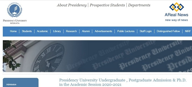 Presidency-University-Admission-2020-UG-PG-Application-Form