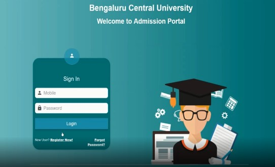 Bengaluru Central University Online Admission Entry