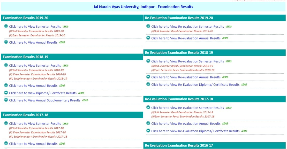 JNVU Revaluation Result 2021 Date 2