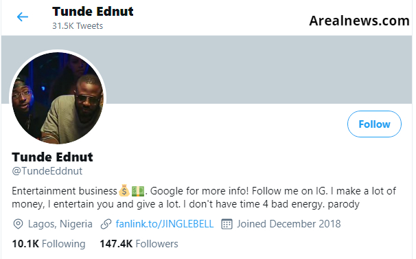 Tunde Ednut Twitter Account
