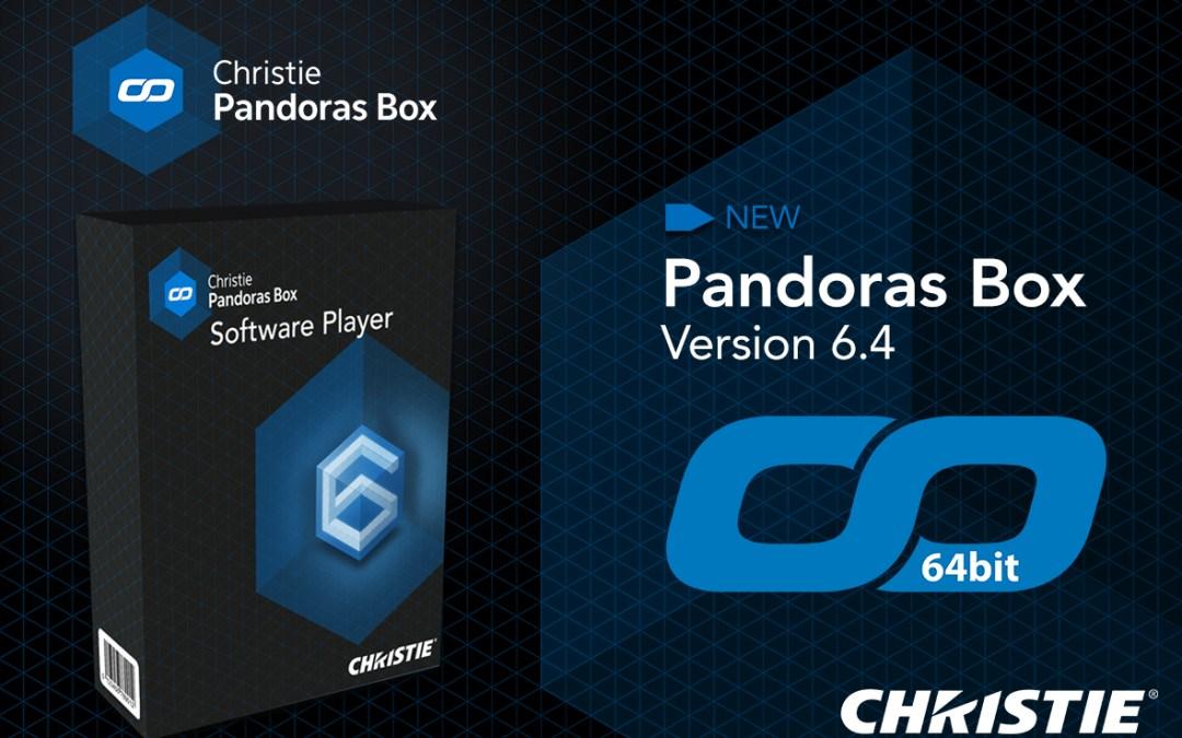 Christie lanza una versión de 64 bits de Pandoras Box