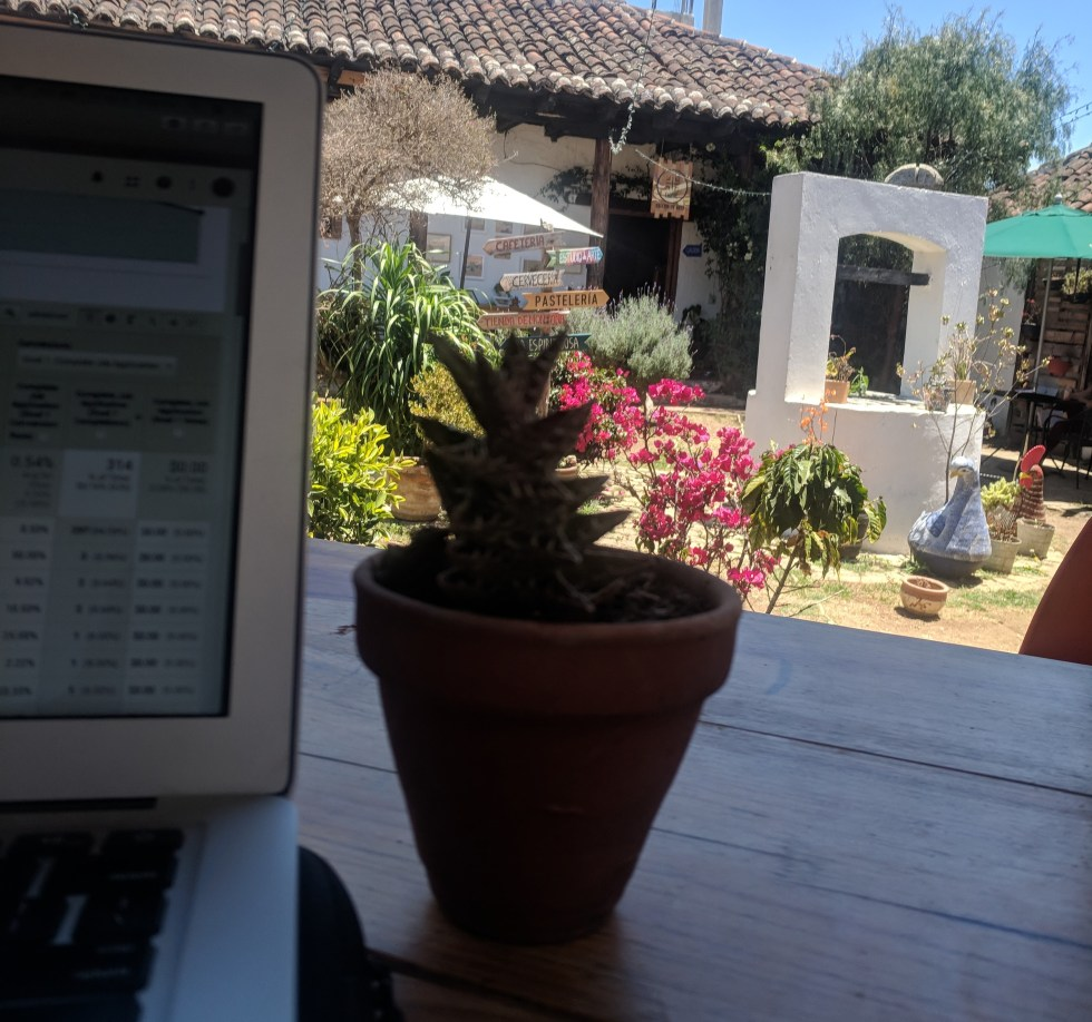 working and living in San Cristobal