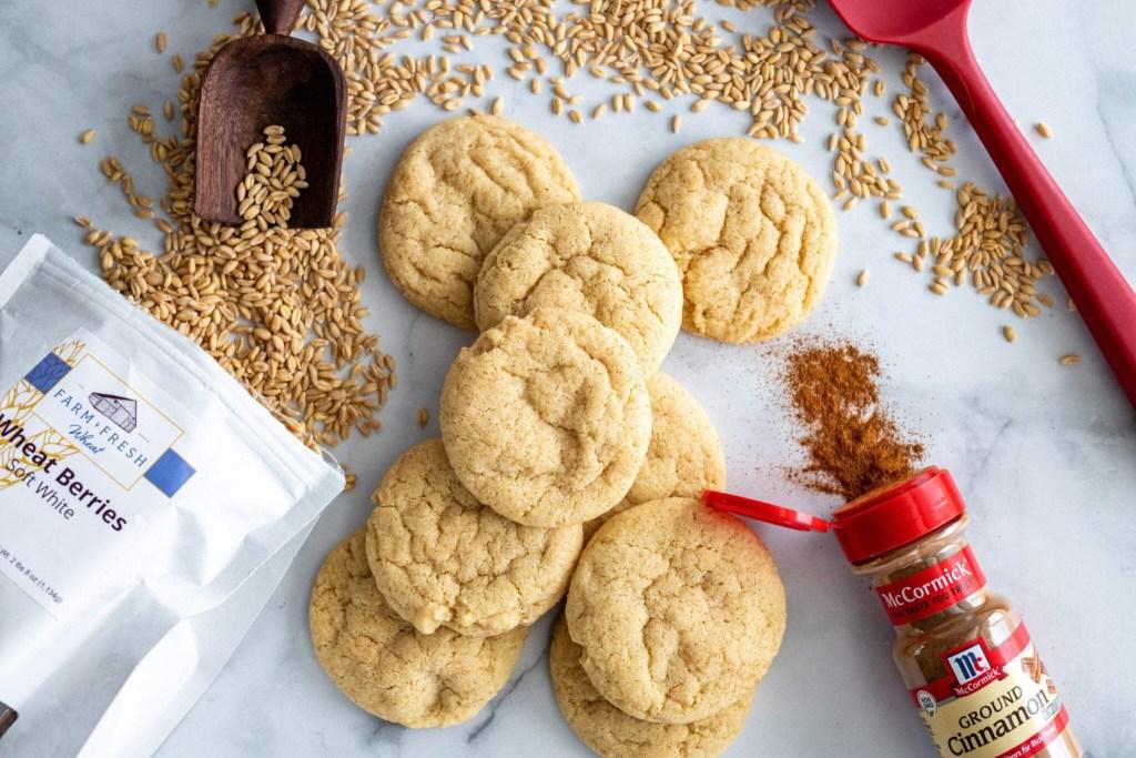 healthier and delicious whole grain snickerdoodles
