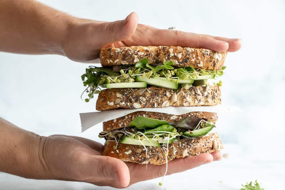 Simple Green Goddess Sandwich