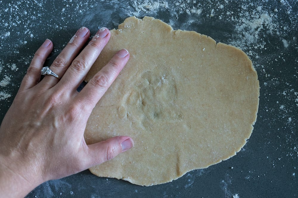 rolled pie dough for galette