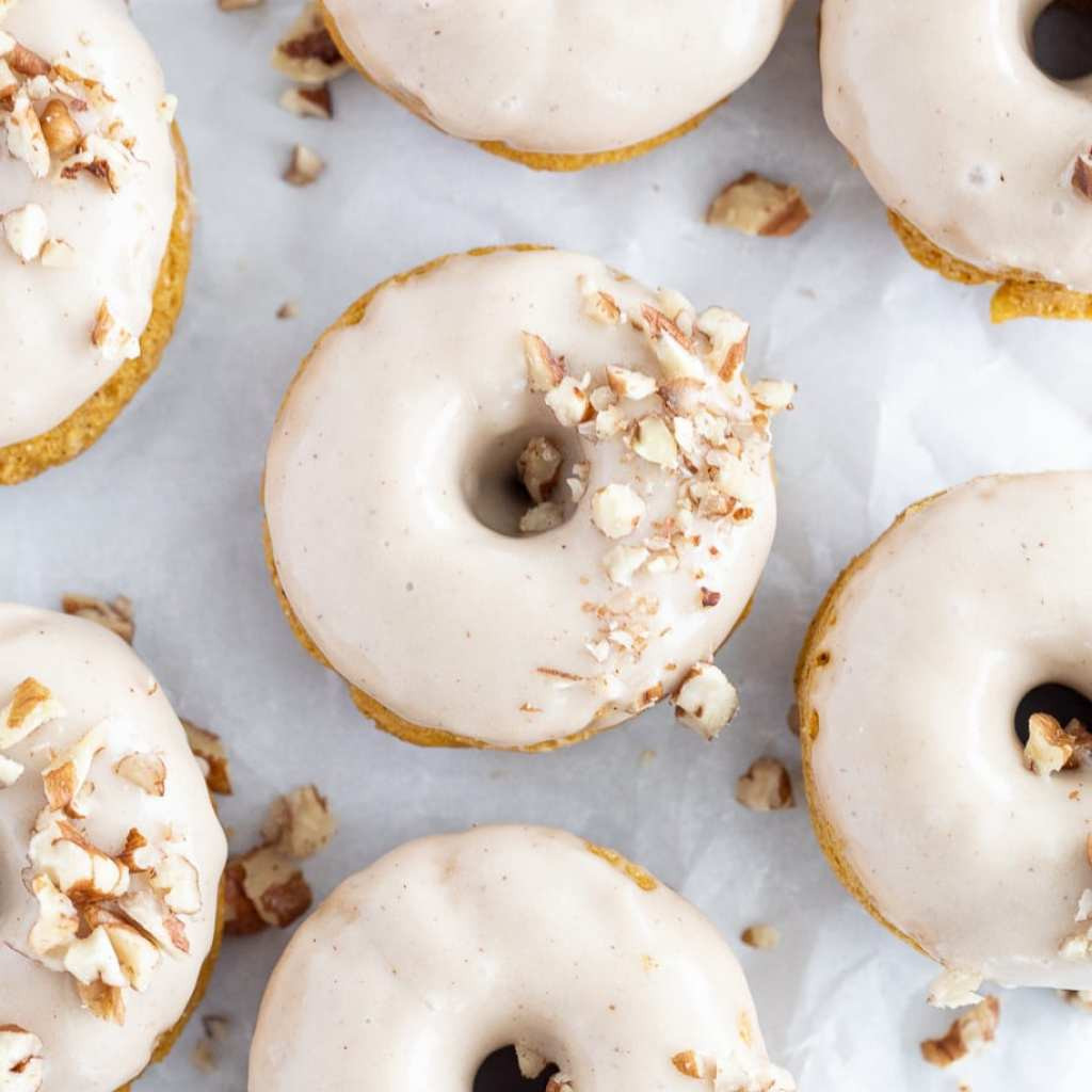 pumpkin donuts with maple glaze