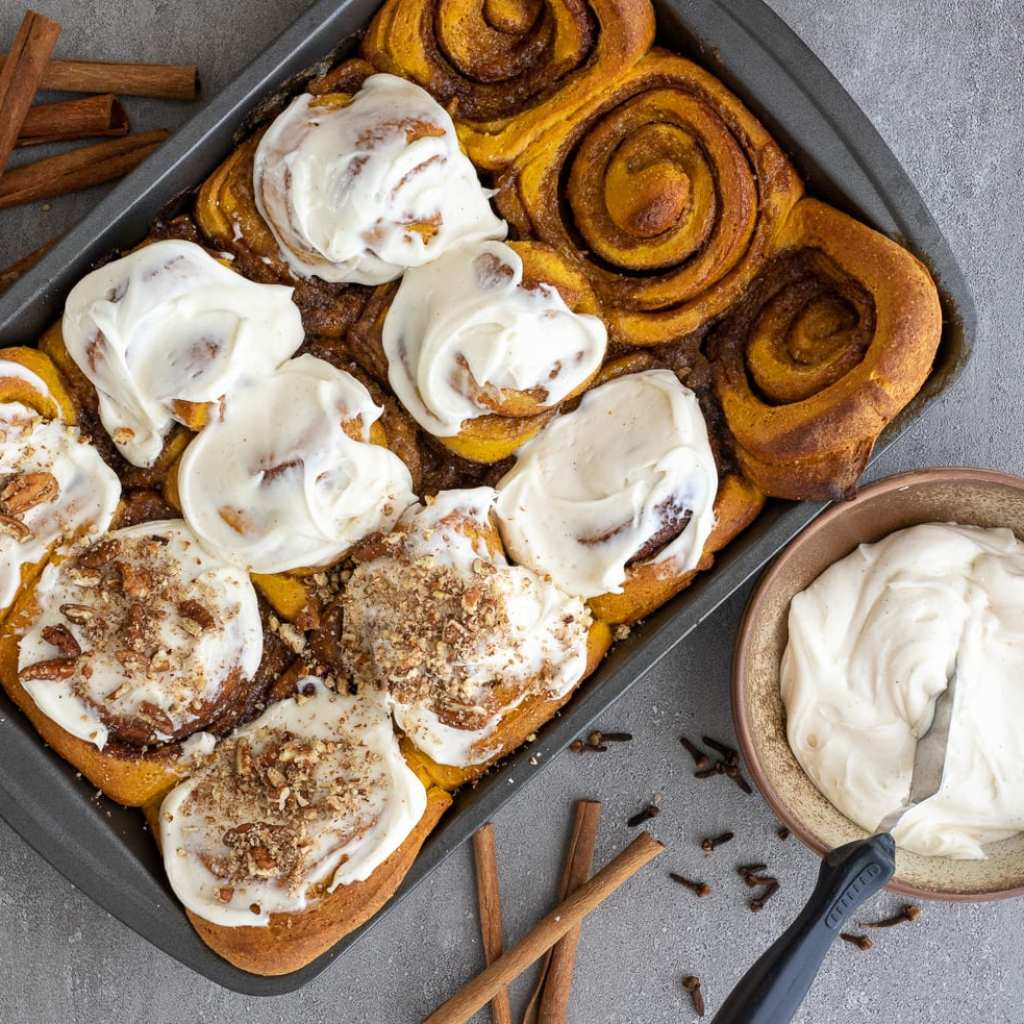 Whole Grain and Delicious Pumpkin Cinnamon Rolls