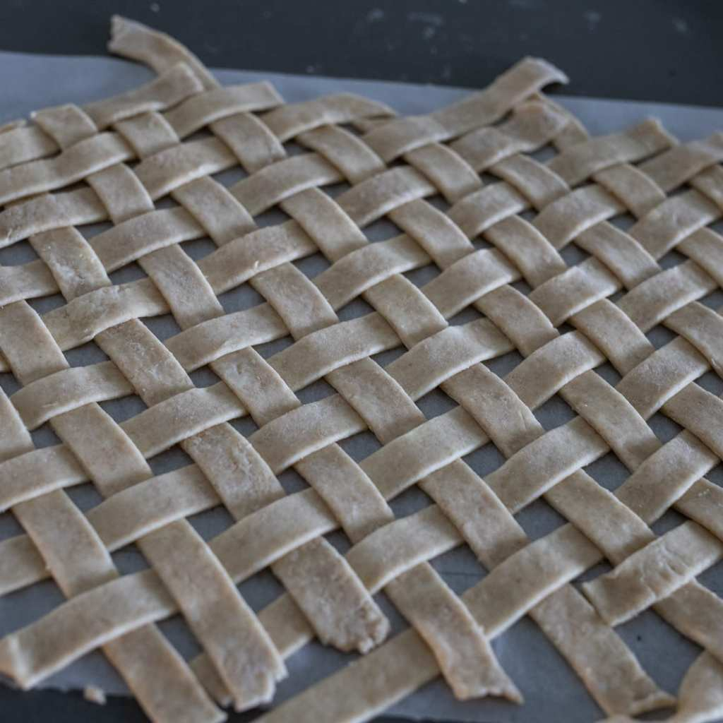 lattice work on parchment paper