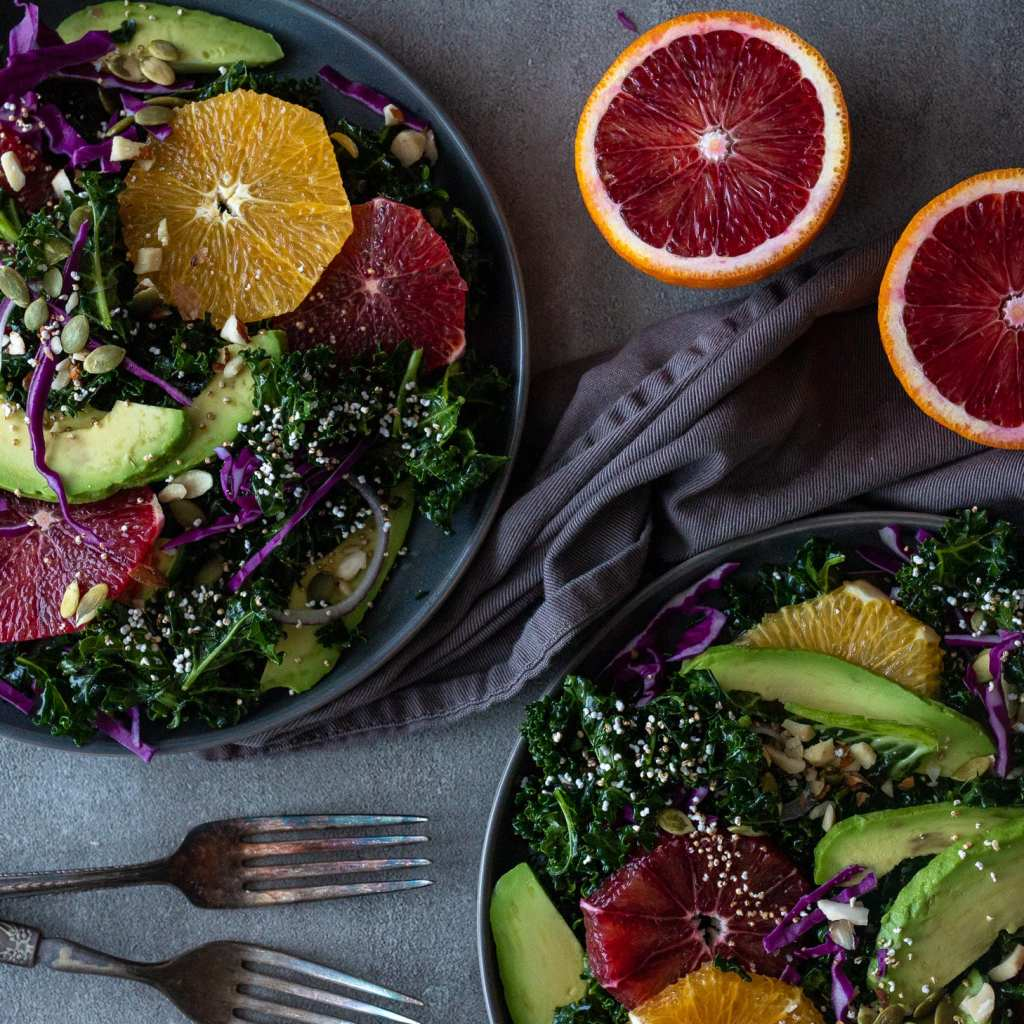 Simple Winter Greens and Blood Oranges