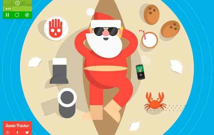 spinonews.com Santa tracker App 2017 with games