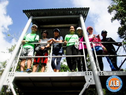 Group picture sa View Deck or Watch Tower.