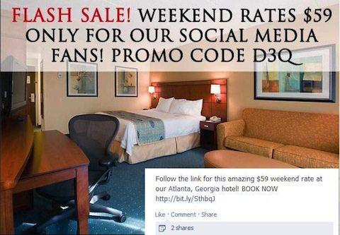 Atlanta Hotel Facebook Promotion