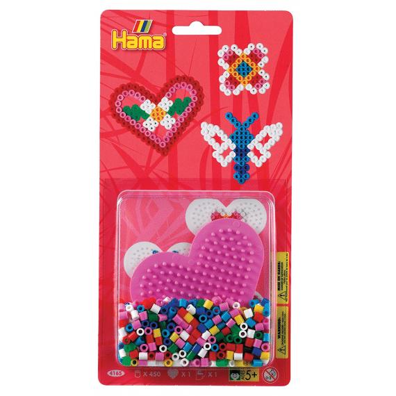 Blister 450 beads + placa corazón pequeño + papel de planchado